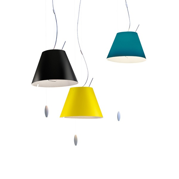 Costanzina (Solo Structure) Pendant Lamp sube-baja with switch without lampshade - white