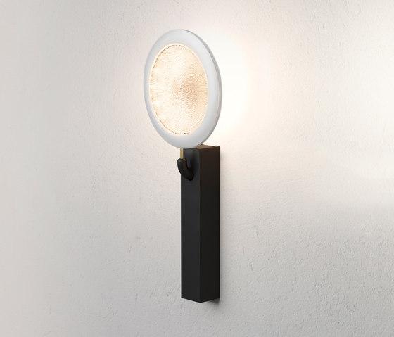 Fly Too Aplique regulable LED 20W - Estructura negra Esfera blanca