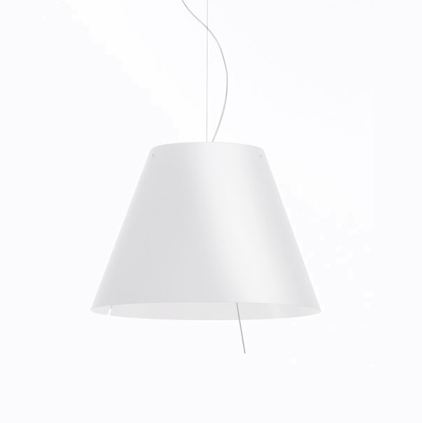 Large Costanza Pendant Lamp Complete with dimmer E27 3x70w - lampshade white