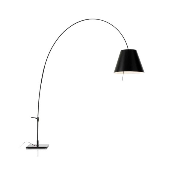 Lady Costanza (Solo Structure) Floor Lamp telescópica with switch without lampshade E27 - Black