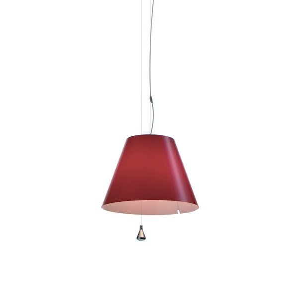 Lady Costanza (Solo Structure) Pendant Lamp with switch without lampshade E27 - Aluminium