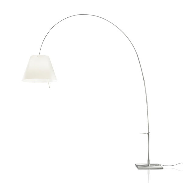 Lady Costanza (Solo Structure) Floor Lamp telescópica with dimmer without lampshade E27 - Aluminium