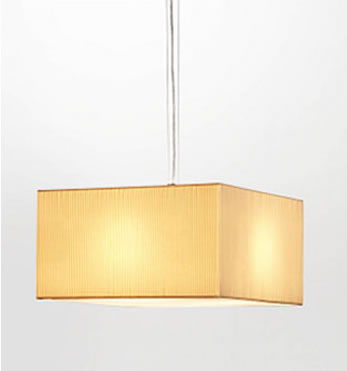 2099 SQ65 ceiling lamp Nickel lampshade Plisada Beige