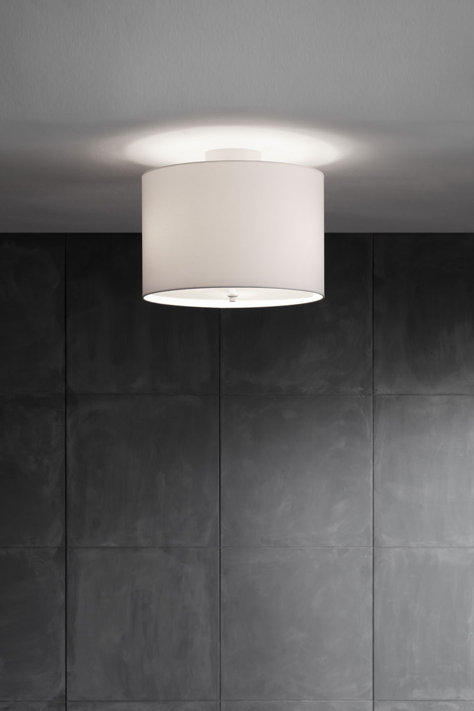 2130 3 ceiling lamp white with white lampshade