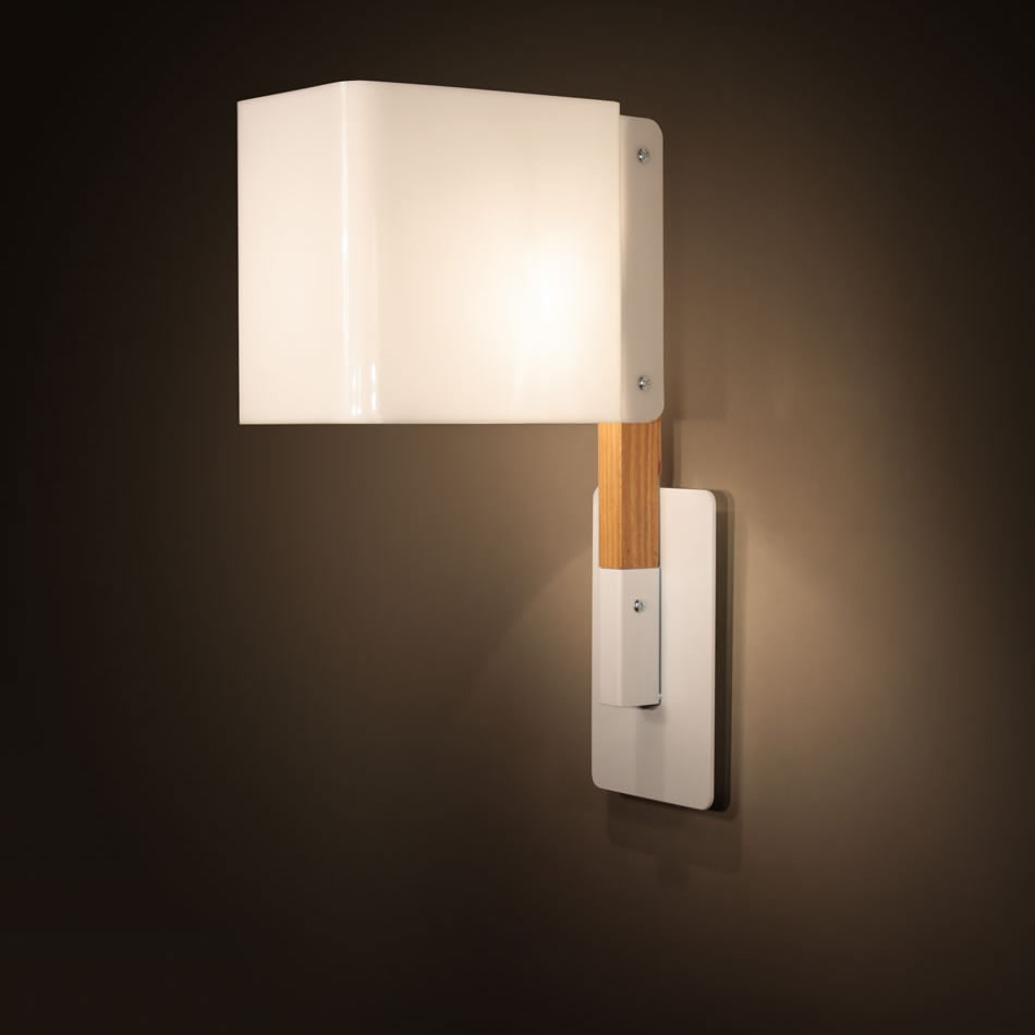 Lighthouse W Wall Lamp white/Wood