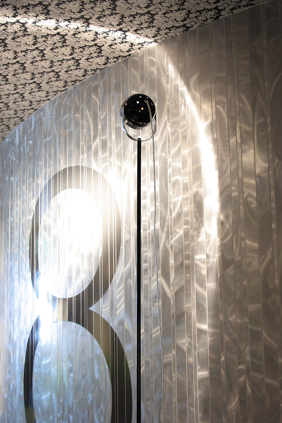 Boogie F lámpara of Floor Lamp 185cm Nickel/Chrome
