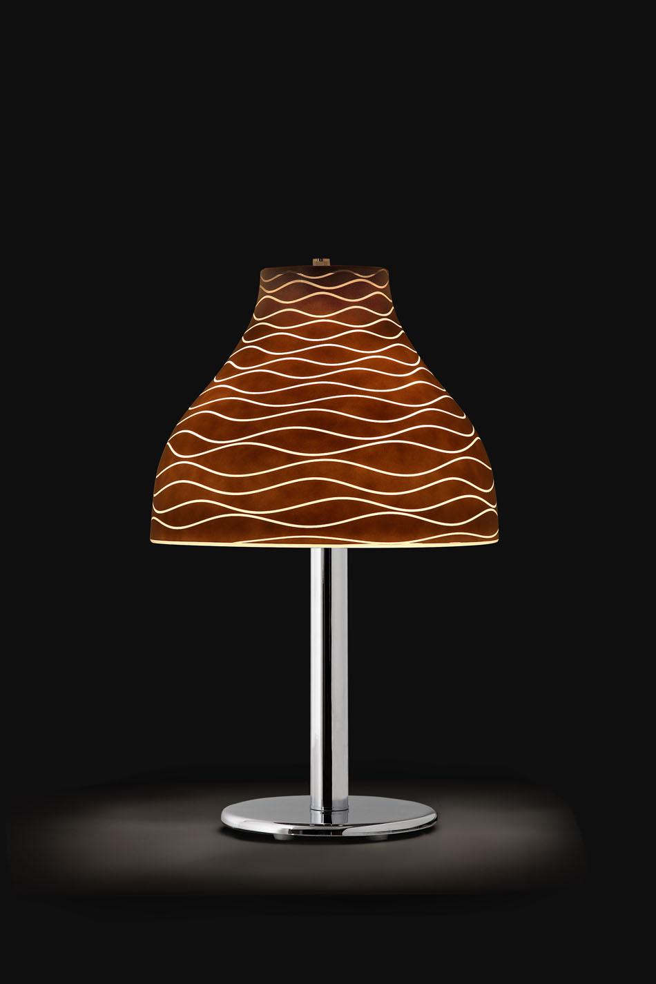 Lucca T Table Lamp 54cm Chrome/Wengué
