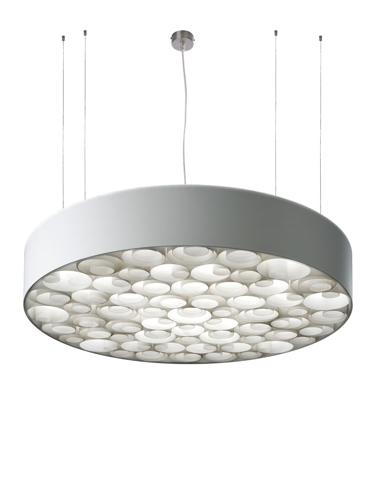 Spiro large Pendant Lamp dimmable Outdoor white