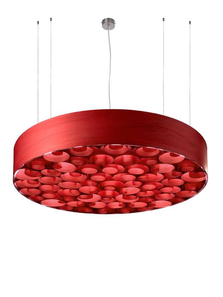 Spiro large Pendant Lamp Red/Rojo