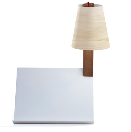 Asterisco Medium Table Lamp white Lacado
