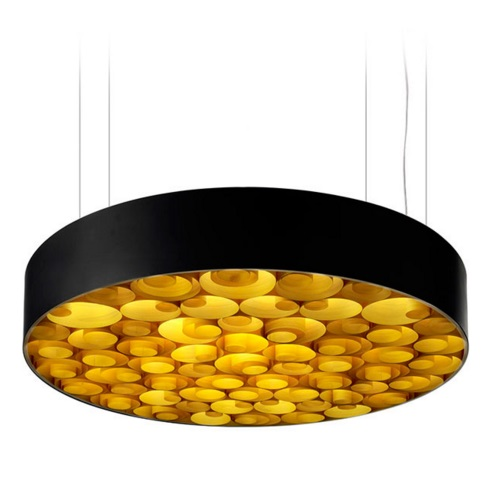 Spiro Pendant Lamp acrílico Large Led 0-10v Dim Black