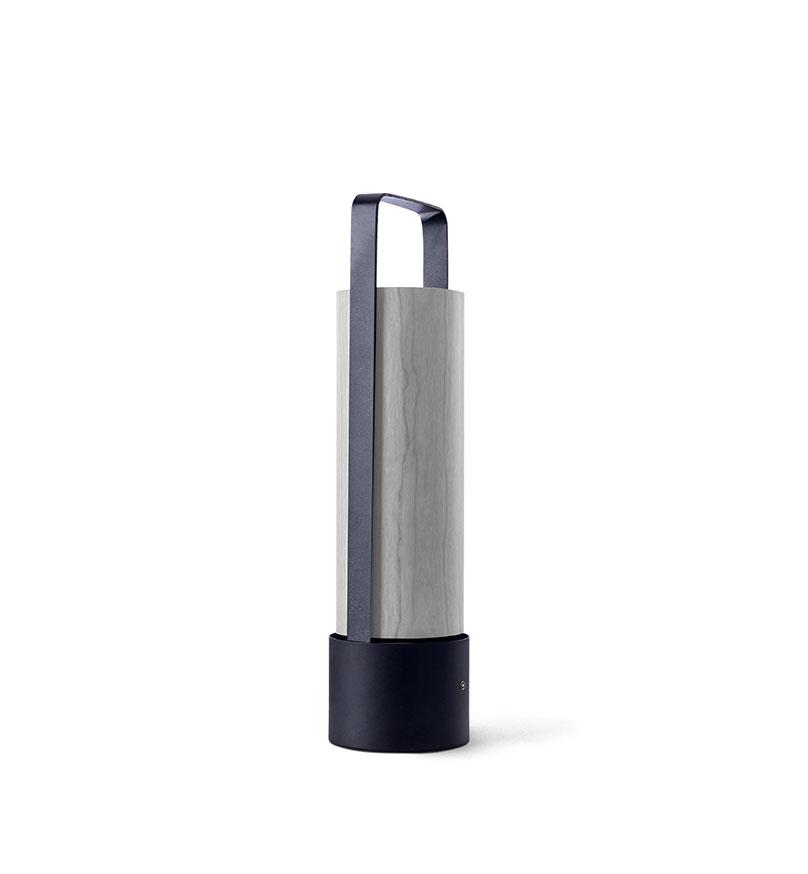 Piknik M Lámpara portátil LED 3x1W dimable 37x9,7cm Estructura negro níquel madera gris