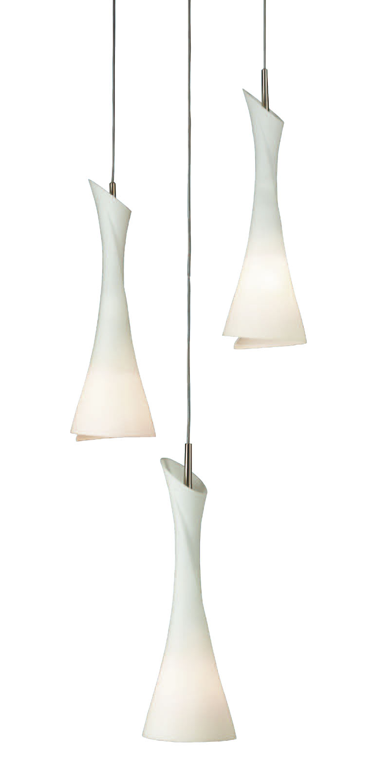 Zack Pendant Lamp Nickel Satin 3L
