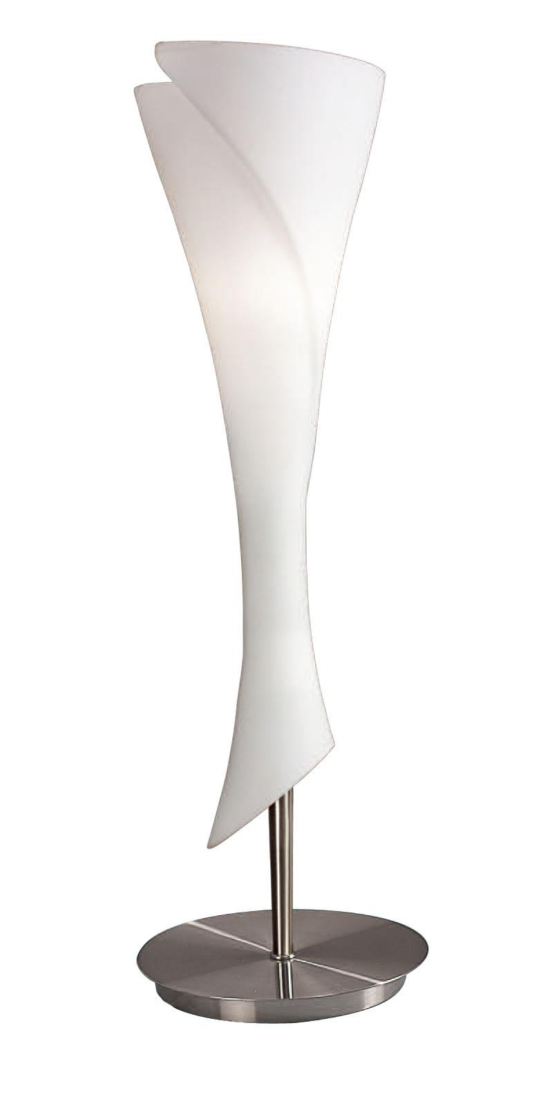 Zack Table Lamp Nickel Satin 1L