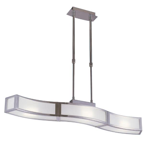 Duna Pendant Lamp Lienal Chrome 3L