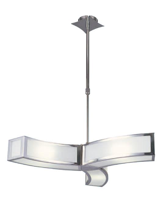 Duna Pendant Lamp /Semiceiling lamp Chrome 3L