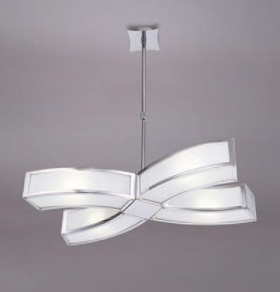Duna Pendant Lamp /Semiceiling lamp Chrome 4L