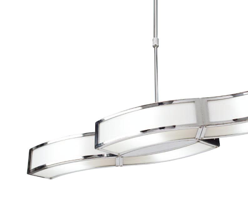 Duna Pendant Lamp Ajustable Chrome 4L