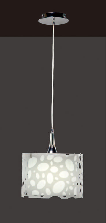 Moon Pendant Lamp Chrome/white 1L