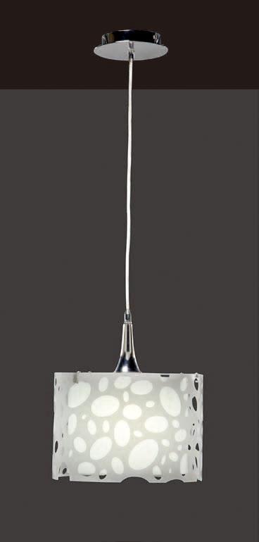 Moon Lámpara Colgante Cromo/blanco 1L