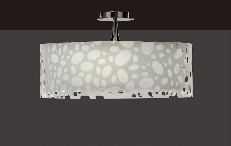 Moon Lamp Semiceiling lamp Chrome/white 4L
