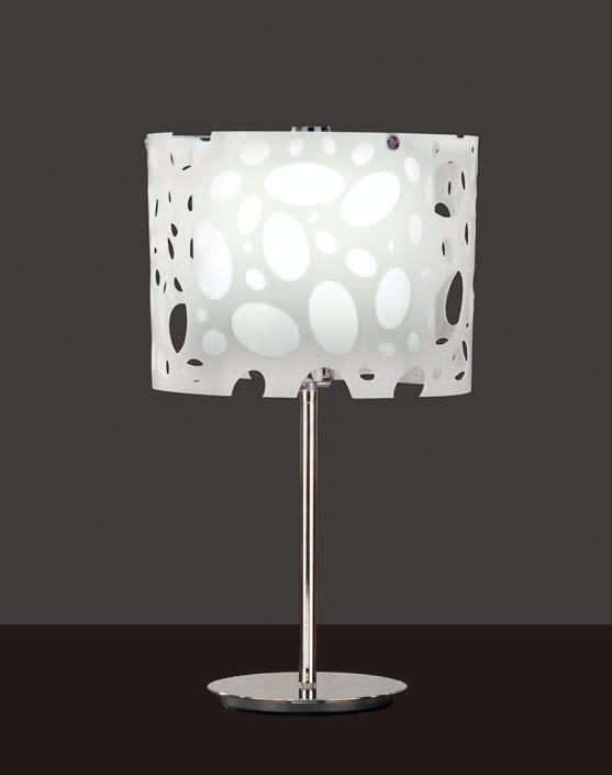 Moon Table Lamp Chrome/white 1L