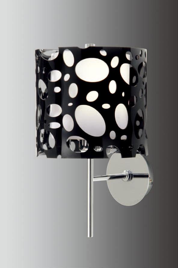 Moon Wall Lamp Chrome/Black 1L