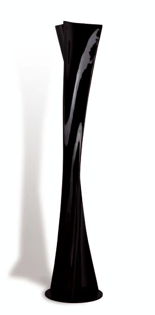 Twist lámpara de Lâmpada de assoalho Lacado Preto 3L