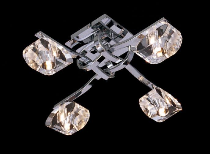 Alfa ceiling lamp Chrome 4L