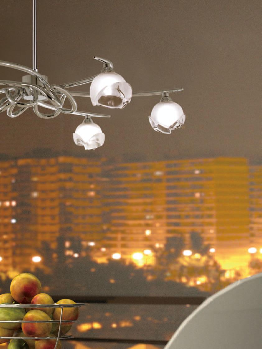 Bali Pendant Lamp Chrome 6L G9