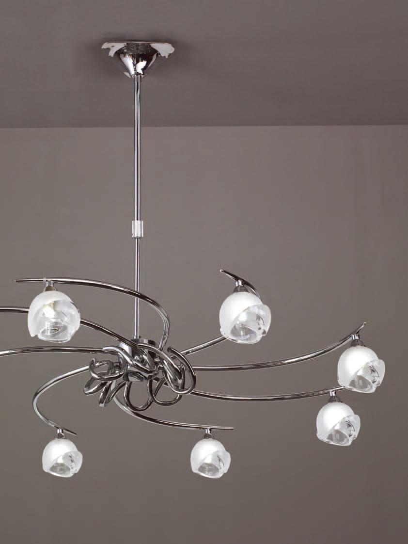 Bali Pendant Lamp Chrome 8L G9