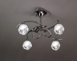 Bali Lamp Semiceiling lamp Chrome 4L E14