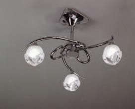 Bali Lamp Semiceiling lamp Chrome 3L G9