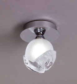 Bali ceiling lamp Chrome 1L G9