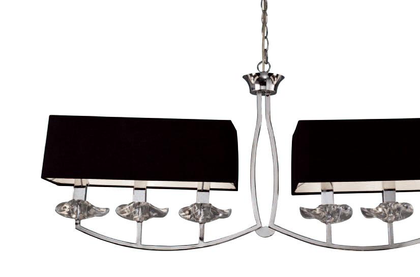 Akira Pendant Lamp Chrome/Black 6L