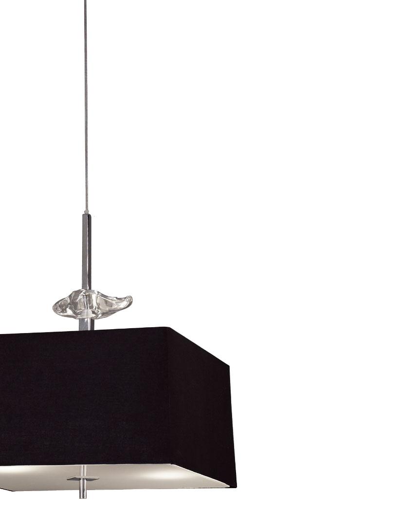 Akira Pendant Lamp Chrome/Black 4L