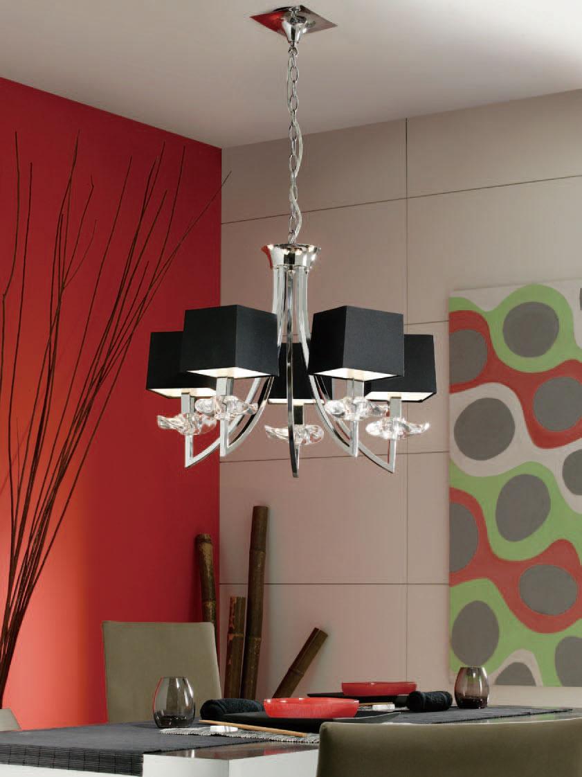 Akira Pendant Lamp Chrome/Black 5L