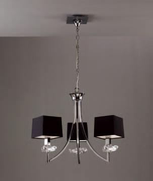 Akira Pendant Lamp Chrome/Black 3L