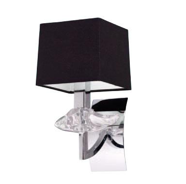 Akira Wall Lamp Chrome/Black 1L