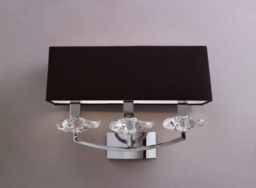 Akira Wall Lamp Chrome/Black 3L