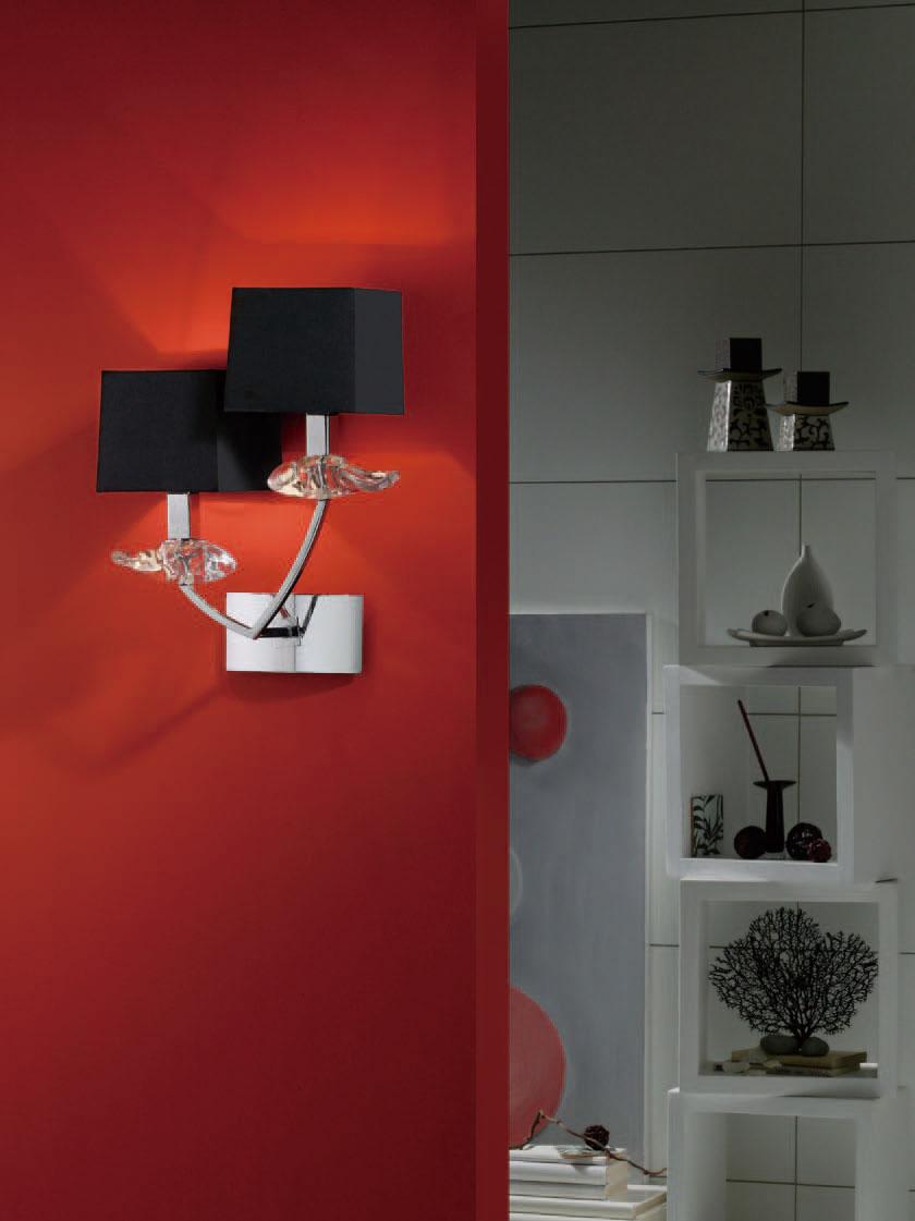 Akira Wall Lamp Chrome/Black 2L