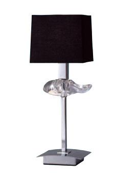 Akira Table Lamp Chrome/Black 1L