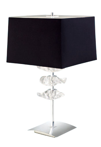 Akira Table Lamp Large Chrome/Black 2L