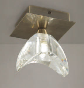 Eclipse ceiling lamp leather 1L