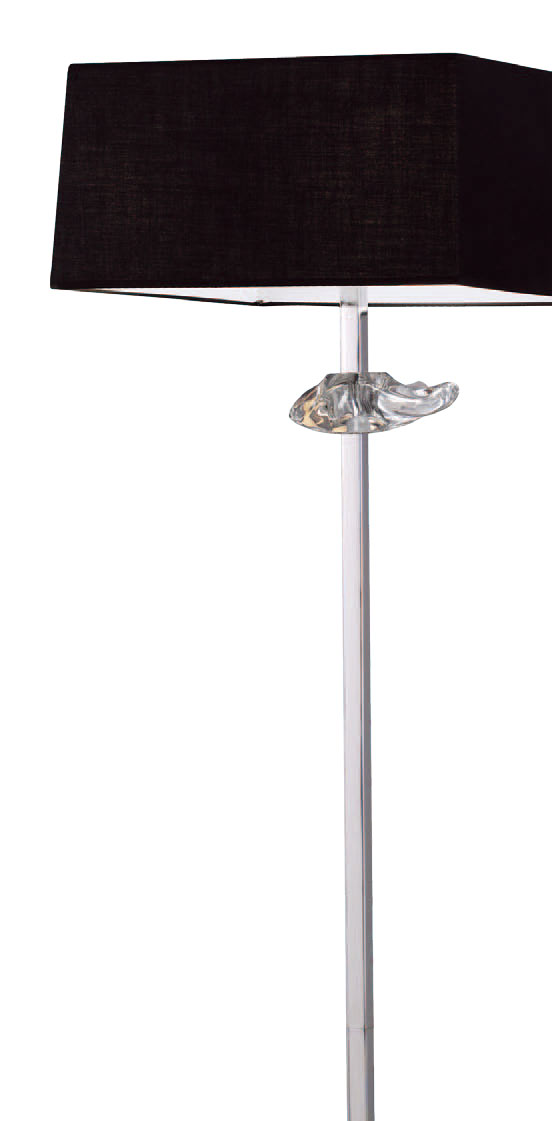 Akira lámpara of Floor Lamp Chrome/Black 3L