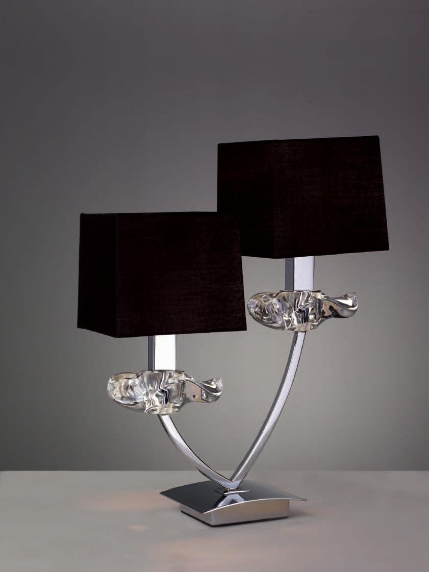 Akira Table Lamp Chrome/Black 2L