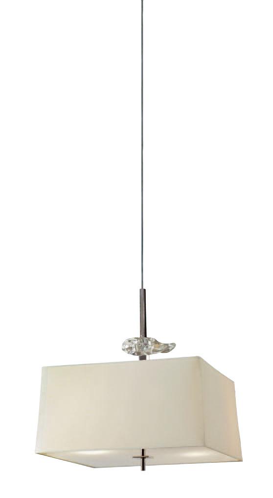 Akira Pendant Lamp Chrome/Cream 4L