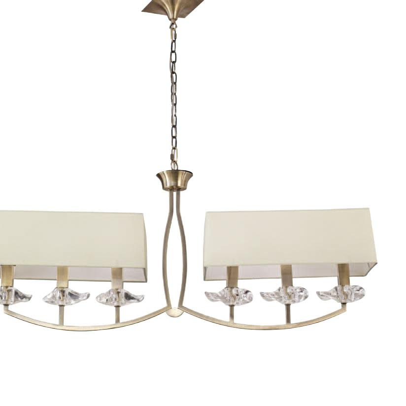 Akira Pendant Lamp Chrome/Cream 6L