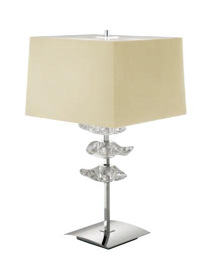 Akira Table Lamp Large Chrome/Cream 2L