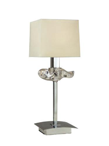 Akira Table Lamp Chrome/Cream 1L